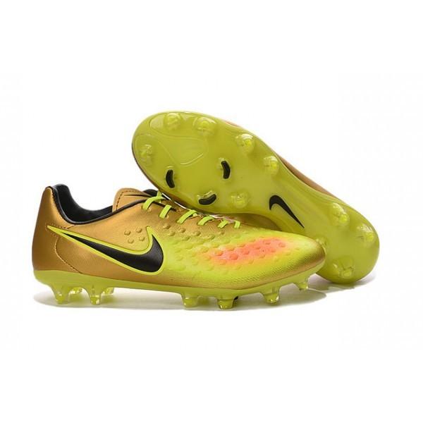 Men's Nike Magista Opus II FG Football Shoes Gold Volt Black