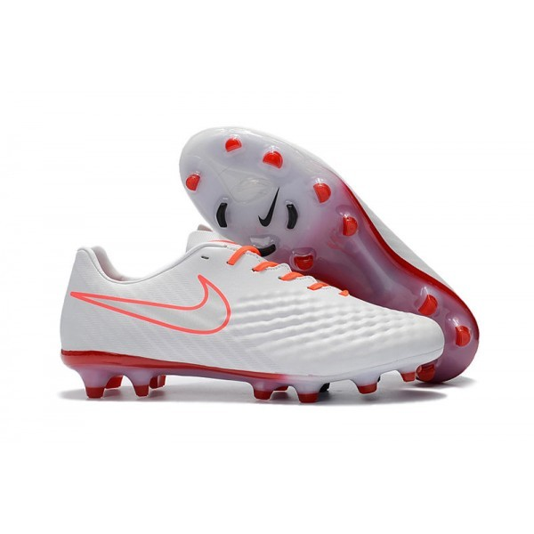Men's Nike Magista Opus II FG Football Shoes White Orange