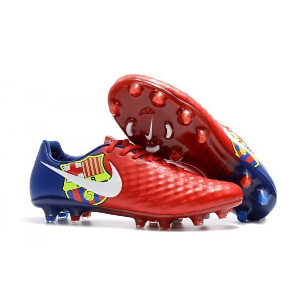 Men's Nike Magista Opus II FG Soccer Cleats Barcelona Red Blue