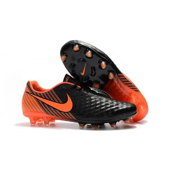 Men's Nike Magista Opus II FG Soccer Cleats Black White University Red