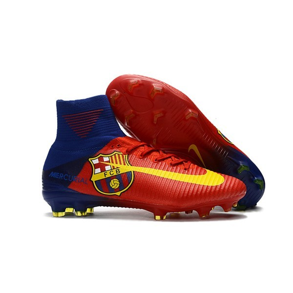 Men's Nike Football Boots Mercurial Superfly 5 FG Barcelona FC Blue Red Yellow