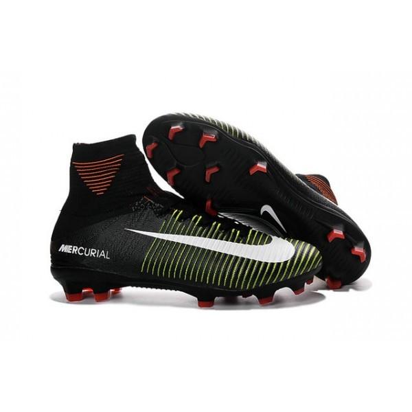 Men's Nike Football Boots Mercurial Superfly 5 FG Black Violet Volt