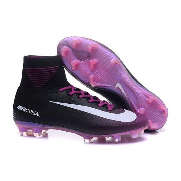 Men's Nike Football Boots Mercurial Superfly 5 FG Black Violet White