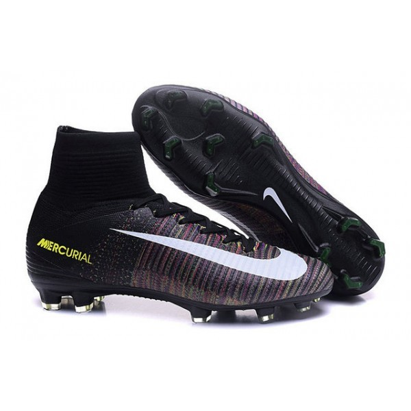 Men's Nike Football Boots Mercurial Superfly 5 FG In Black White