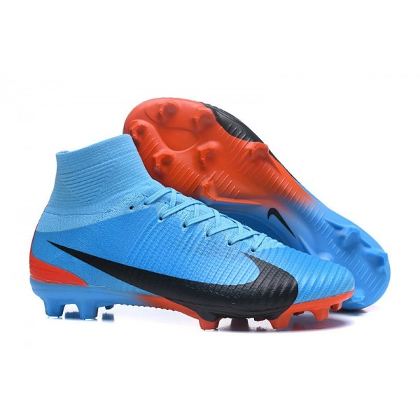 Men's Nike Football Boots Mercurial Superfly 5 FG Blue Red Black