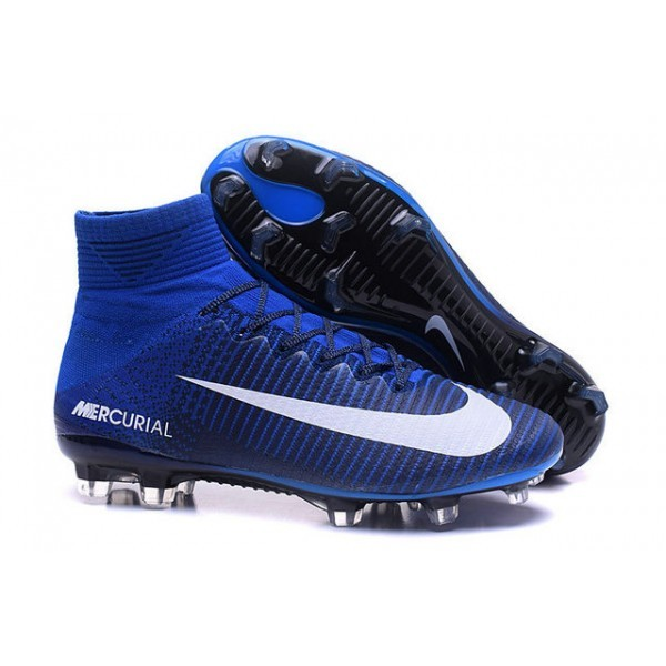 Men's Nike Football Boots Mercurial Superfly 5 FG Blue White