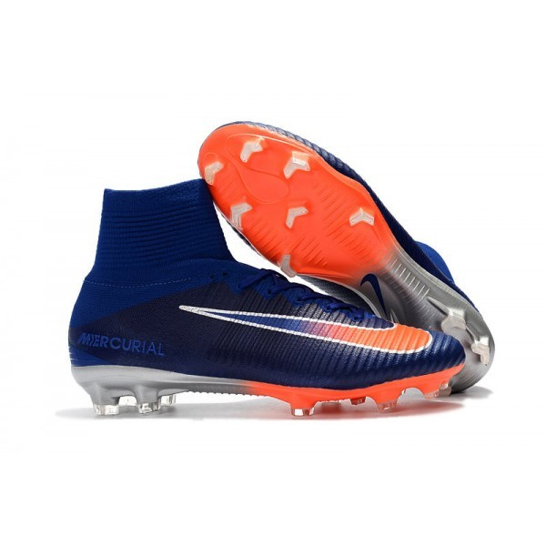 Men's Nike Football Boots Mercurial Superfly 5 FG Deep Royal Blue