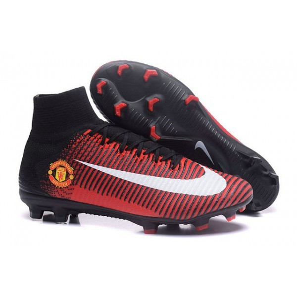 Men's Nike Mercurial Superfly 5 FG Manchester United Football Club Red Black White