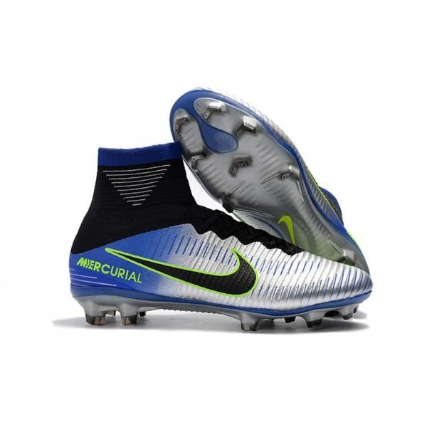 Men's Nike Football Boots Mercurial Superfly 5 FG Racer Blue Black Chrome Volt