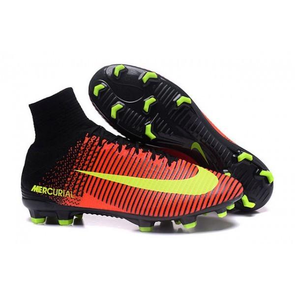 Men's Nike Football Boots Mercurial Superfly 5 FG Total CrimsonVolt Pink Blast