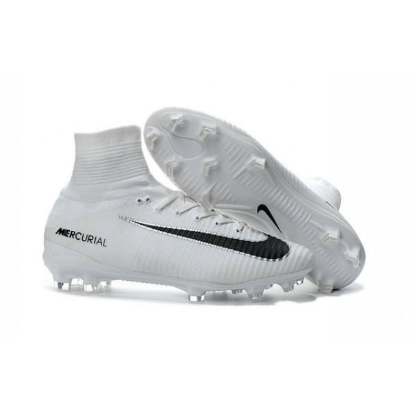 Men's Nike Football Boots Mercurial Superfly 5 FG White Black
