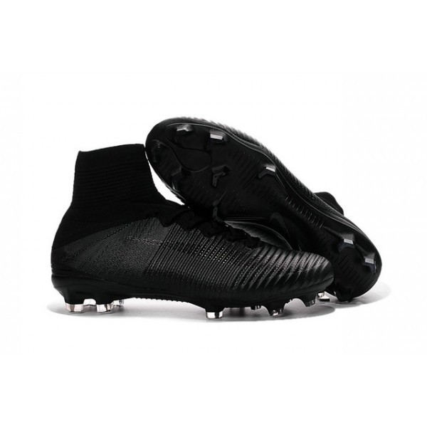 Men's Nike Football Boots Mercurial Superfly 5 FG all Black