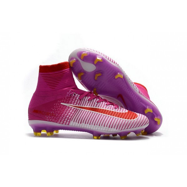 Men's Nike Mercurial Superfly V FG Tech Craft 2017 Pink White Red