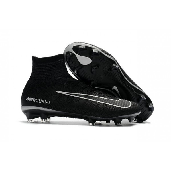 Men's Nike Soccer Cleats Mercurial Superfly V FG Black Dark Grey