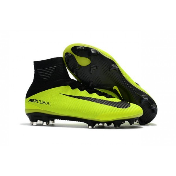 Men's Nike Soccer Cleats Mercurial Superfly V FG Volt Black
