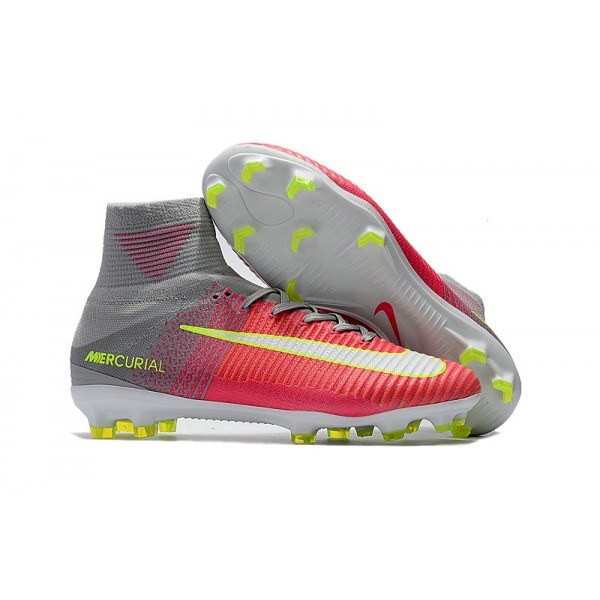 Men's Nike Mercurial Superfly V FG Mens Soccer Cleats Firm Ground Hyper Pink White