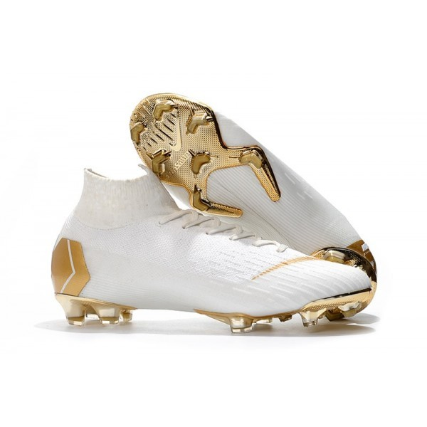 2018 Men's Nike cr7 Mercurial Superfly 6 Elite FG White Gold