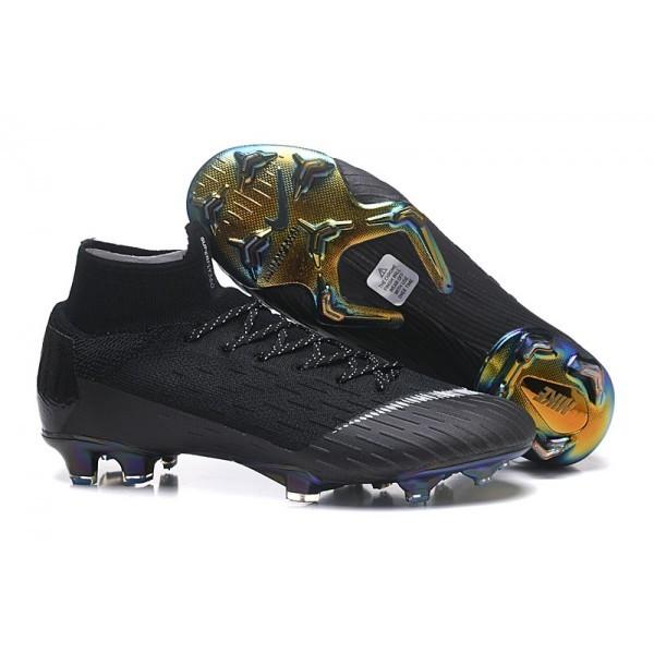 Men's Nike Soccer Cleats Mercurial Superfly 6 Elite FG For Sale Black White