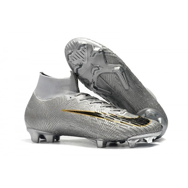 Men's Nike Mercurial Superfly 360 Elite FG News Silver Black
