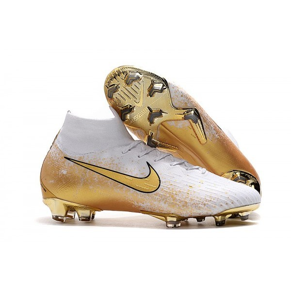 Men's Nike Mercurial Superfly 6 Elite FG News Gold White