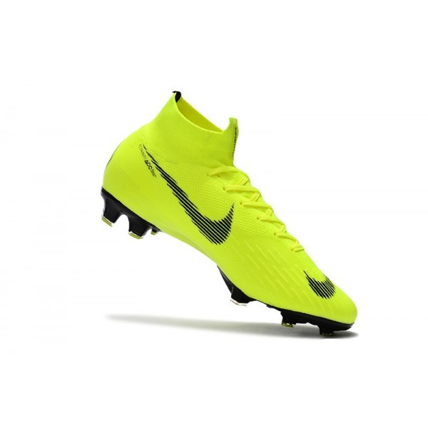 Men's Nike Soccer Shoes Mercurial Superfly 6 Elite FG Fluorescent Yellow