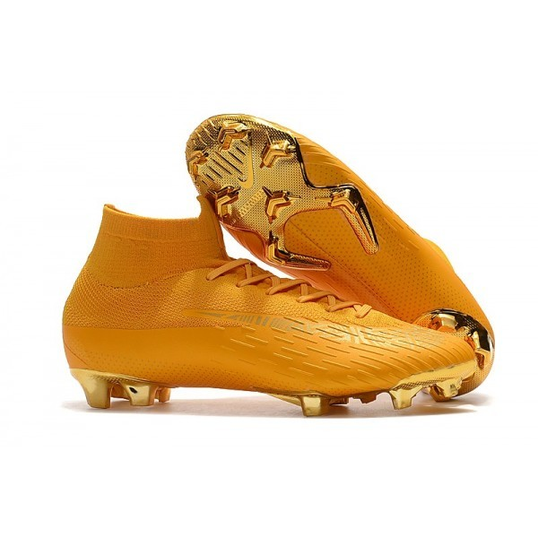 Men's Nike Soccer Shoes Mercurial Superfly 6 Elite FG Golden