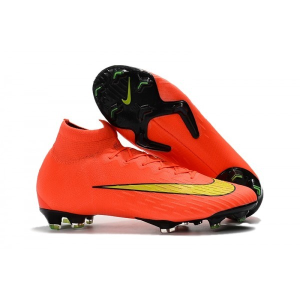 Men's Nike Soccer Shoes Mercurial Superfly 6 Elite FG Orange Yellow