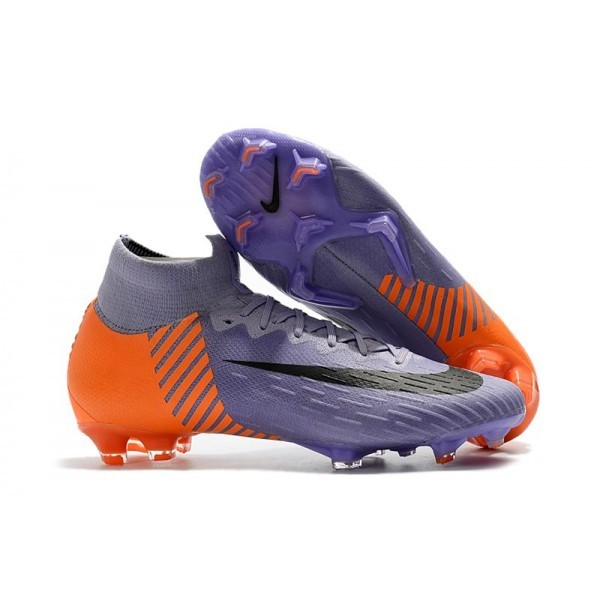 Men's Nike Soccer Shoes Mercurial Superfly 6 Elite FG Purple Orange Black