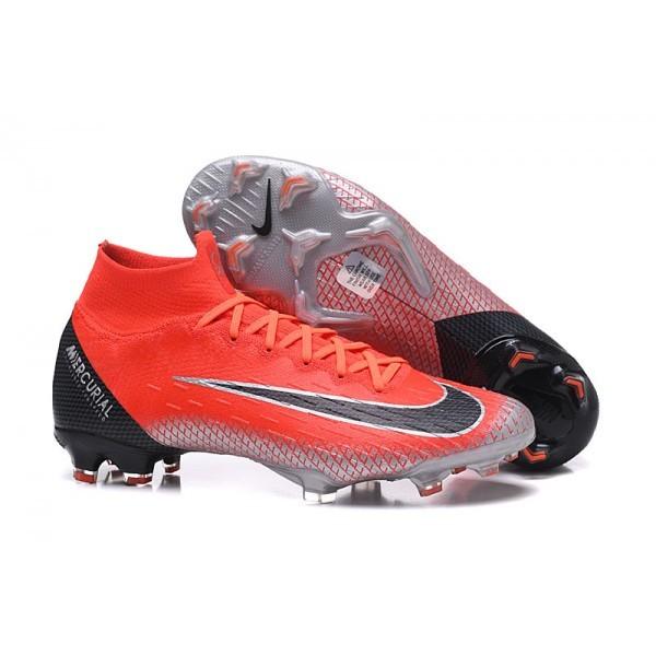 Men's Nike Soccer Shoes Mercurial Superfly 6 Elite FG Red Black