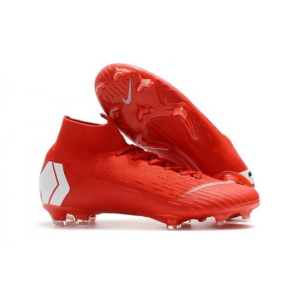 Men's Nike Soccer Shoes Mercurial Superfly 6 Elite FG Red White