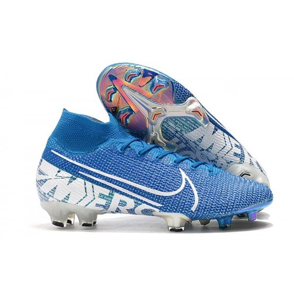 Men's Nike Mercurial Superfly VII Elite FG Boots Blue Hero White
