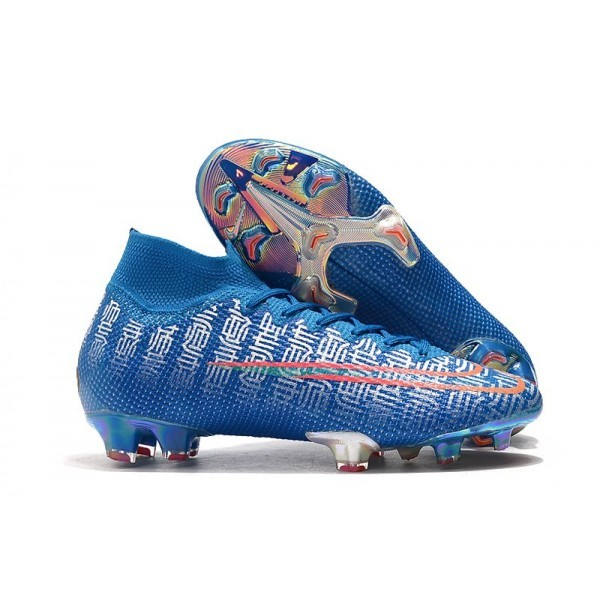 Men's Nike Mercurial Superfly VII Elite FG Boots Blue Red Silver