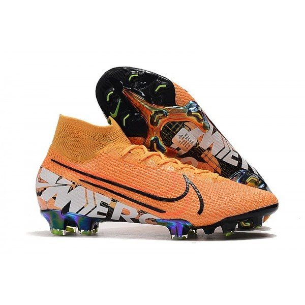 Men's Nike Mercurial Superfly VII Elite FG Boots Orange Black White