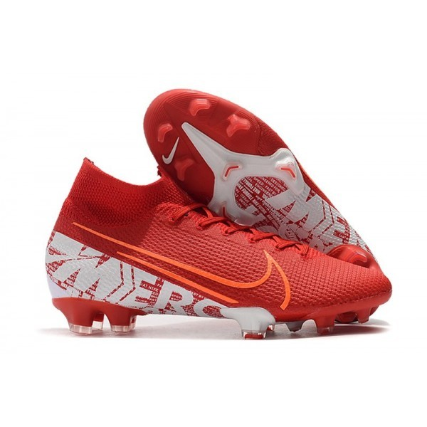Men's Nike Mercurial Superfly VII Elite FG Boots Red White