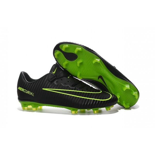 Men's Nike Football Cleats Mercurial Vapor XI FG Black Green