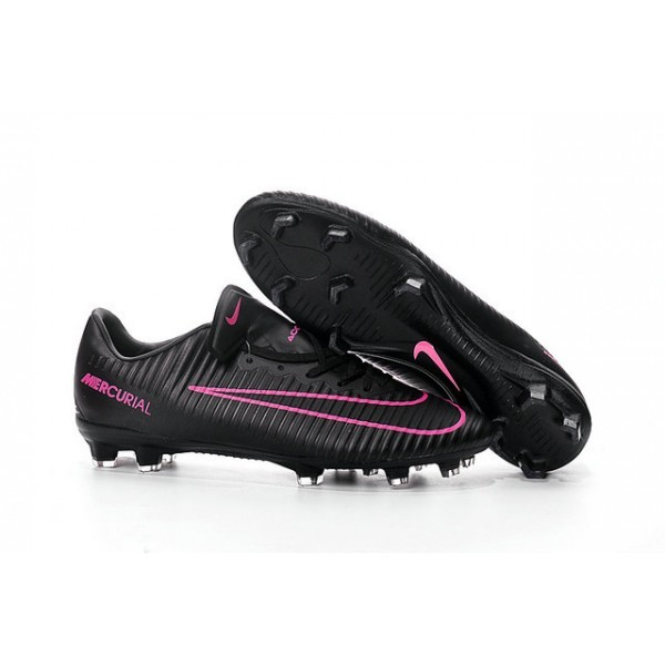 Men's Nike Football Cleats Mercurial Vapor XI FG Black Pink Blast