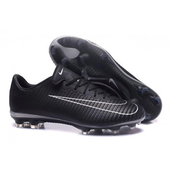 Men's Nike Football Cleats Mercurial Vapor XI FG Black White