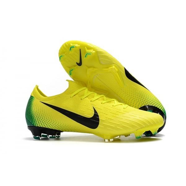Men's Nike Mercurial Vapor XII 360 Elite Firm-Ground Yellow Volt Black