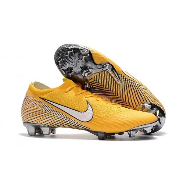 Men's Nike Football Boots Mercurial Vapor XII 360 Elite FG Amarillo White Black