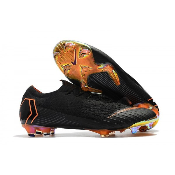 Men's Nike Football Boots Mercurial Vapor XII 360 Elite FG Black Orange White