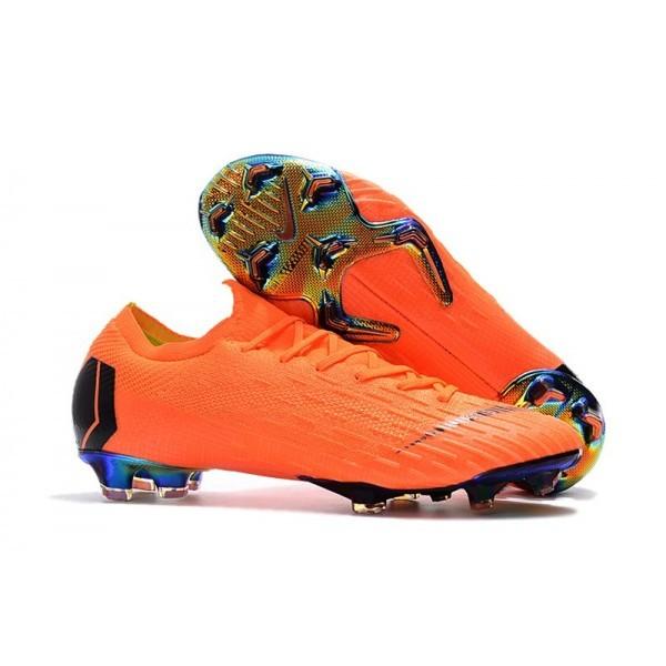 Men's Nike Football Boots Mercurial Vapor XII 360 Elite FG Total Orange Black Volt