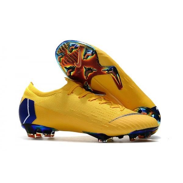 Men's Nike Football Boots Mercurial Vapor XII 360 Elite FG Yellow Blue