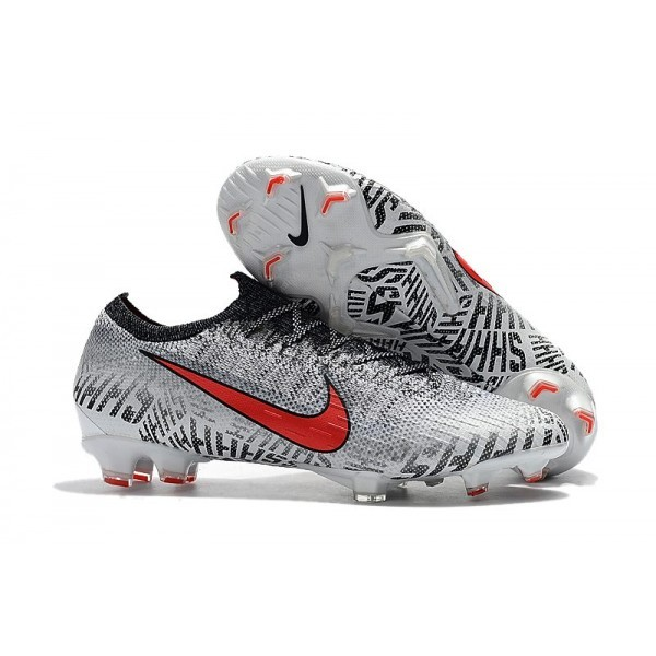 Neymar Men's Nike Mercurial Vapor XII 360 Elite FG White Red Black
