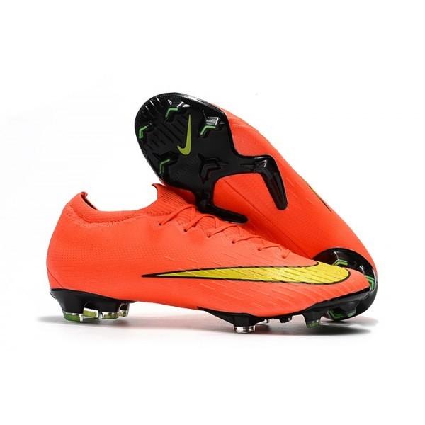 Men's Nike Mercurial Vapor XII 360 Elite FG Boots For Sale Orange Yellow