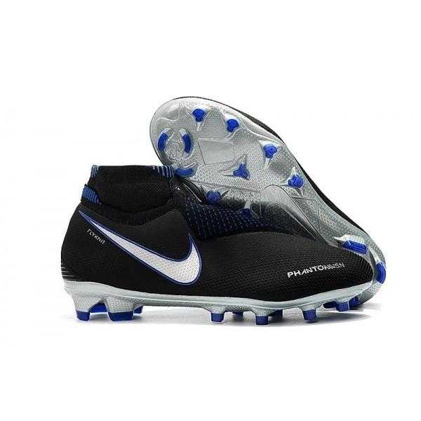 Men's Nike Soccer Cleats Phantom Vision Elite DF FG Black Blue