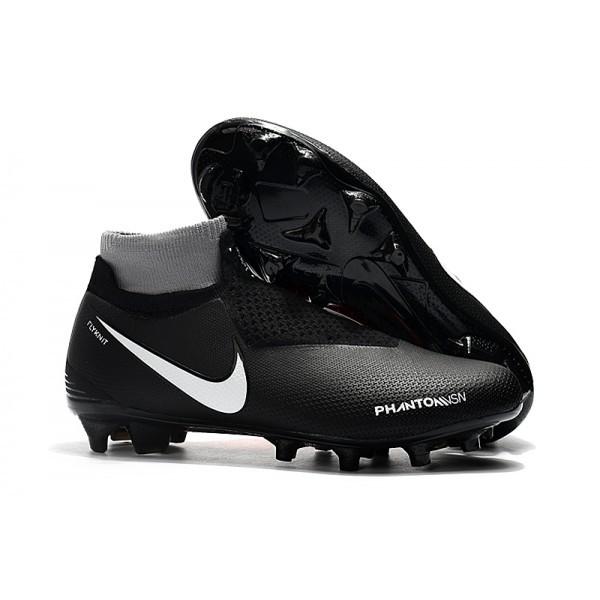 Men's Nike Soccer Cleats Phantom Vision Elite DF FG Black Red White