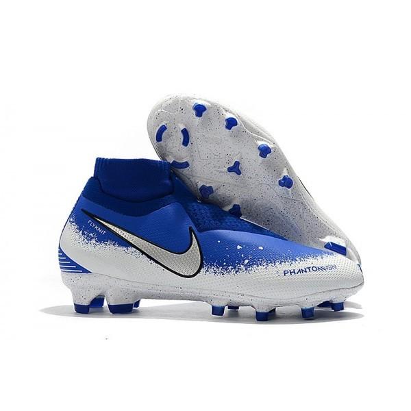 Men's Nike Soccer Cleats Phantom Vision Elite DF FG Blue White