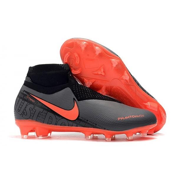 Men's Nike Phantom VSN Elite DF FG Mens Boot Black Crimson