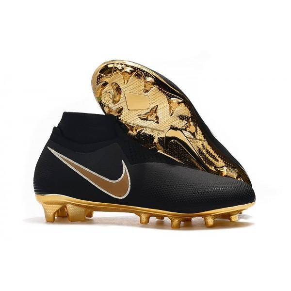 Men's Nike Phantom VSN Elite DF FG Mens Boot Black Golden