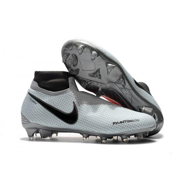 Men's Nike Phantom Vision Elite DF FG Football Cleats Grey Red